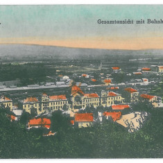 3578 - Bucovina, CERNAUTI, Railway Station - old postcard - unused - Carte Postala Bucovina 1904-1918, Necirculata, Printata