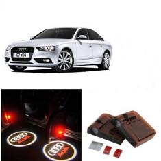 Proiectoare Logo Holograma cu sigla Audi dedicat pentru Audi A4 - Embleme auto