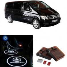 Proiectoare Logo Holograma cu sigla Mercedes-Benz dedicat pentru Mercedes Benz Clasa Vito - Embleme auto