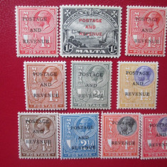 TIMBRE ANGLIA/COLONII MALTA 1928