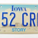 Numar de inmatriculare vechi - Iowa - USA - Metal/Fonta
