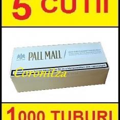 Tuburi tigari PALL MALL alb cu carbon - 1000 tuburi tigari / filtre tigari