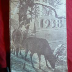 Calendar-Agenda 1938 cu diverse insemnari - Calendar colectie