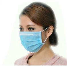 Masca protectie fata 3 pliuri, albastra x 10 bucati