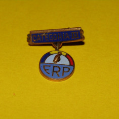 Insigna Federatia Romana de Popice - categoria III
