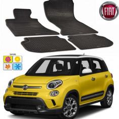 Set covorase auto Hitech din cauciuc Fiat 500L/Trekking/Living 2012-2016