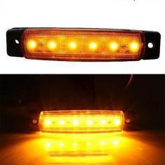 Lampa gabarit 6 LED 24 V lumina galbena - Tuning camioane