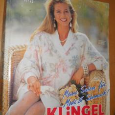 CATALOG MODA VINTAGE ANUL 1991-92 - KLINGEL - IN LIMBA GERMANA - Revista moda