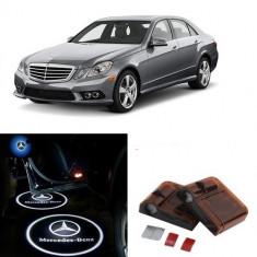 Proiectoare Logo Holograma cu sigla Mercedes-Benz dedicat pentru Mercedes Benz Clasa E - Embleme auto