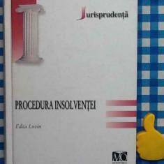 Procedura insolventei Edita Lovin