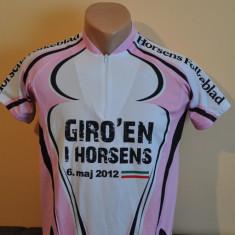Tricou ciclism dama GIRO'EN I HORSENS. Marimea S. ( bicicliesti, bicicleta) - Tricou dama, Marime: S, Culoare: Alb, Maneca scurta