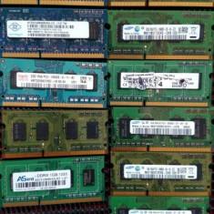 Ram laptop So-DIMM DDR3 PC3 10600/1333mhz 2GB/ disponibil kit 4GB - Memorie RAM laptop Samsung, Dual channel