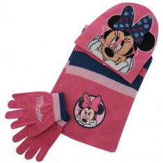 Set caciulita,manusi si fular Disney Minnie copii
