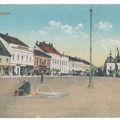 2033 - Maramures, SIGHET, Market - old postcard - used - 1916, Circulata, Printata