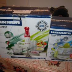 Blender Heinner Delice HB-600, 600W si storcator citrice Heinner C250X, NOI