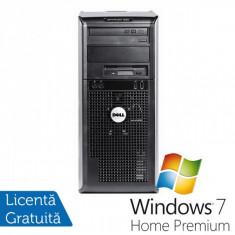 Calculator DELL Optiplex GX360, Intel Pentium Dual Core E2220, 2.4 GHz, 2GB DDR2, 160GB SATA, DVD-RW + Windows 7 Home Premium - Sisteme desktop fara monitor