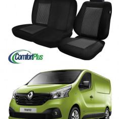 Huse Scaun Renault Trafic 2014-2016 3 locuri Confort Line - Husa Auto