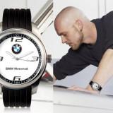 Ceas model BMW motorrad curea silicon negru cadran alb cutie cadou - Ceas barbatesc, Lux - sport, Quartz, Inox, Analog