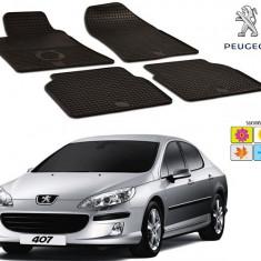 Set covorase auto Hitech din cauciuc Peugeot 407 2004-2010