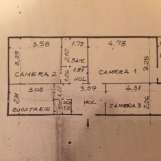 Apartament 3 CD Iasi - Tatarasi - Ciurchi - Apartament de vanzare, 57 mp, Numar camere: 3, An constructie: 1976, Etajul 3