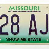 Numar de inmatriculare vechi - Missouri - USA - Metal/Fonta