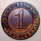 7.314 GERMANIA WEIMAR 1 REICHSPFENNIG 1929 A, Europa, Bronz