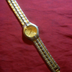 Ceas barbatesc de mana marca Rolex ( copie electronica), bratara frumoasa bronz, Quartz