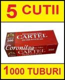 Tuburi tigari CARTEL FILTRU 20 mm - 1000 tuburi tigari / filtre tigari