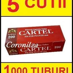 Tuburi tigari CARTEL FILTRU 20 mm - 1000 tuburi tigari / filtre tigari - Foite tigari
