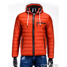 Geaca C215 portocaliu iarna 2017, model NOU - Geaca barbati, Marime: M, L, Culoare: Orange, Bumbac