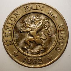 7.263 BELGIA 10 CENTIMES 1862 EROARE, Europa, Cupru-Nichel