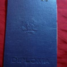 Diploma la Facultatea Istorie Universitatea V.Babes -Cluj 1953, cu foaie matr. - Diploma/Certificat
