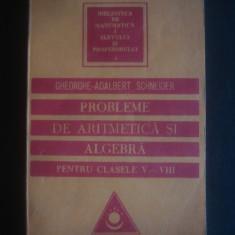 GHEORGHE ADALBERT SCHNEIDER - PROBLEME DE ARITMETICA SI ALGEBRA CLASELE V - VIII