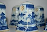 Lot solnite/solnita pentru piper si sare din portelan decorate in stil chinezesc, Seturi