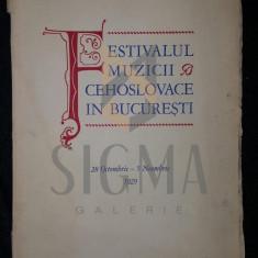 METODIU ZAVORAL (PRESEDINTE, ABATELE MSGR. DOCTOR) - FESTIVALUL MUZICII CEHOSLOVACE IN BUCURESTI (28 OCTOMBRIE - 5 NOIEMBRIE, 1929) - Carte de colectie
