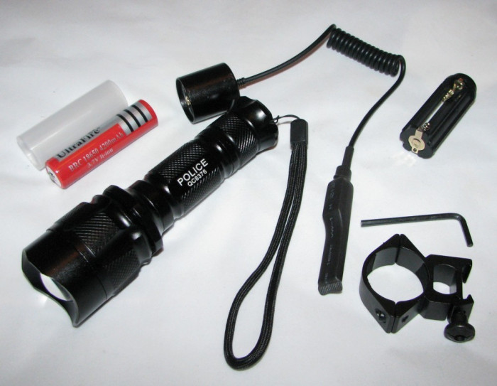 Lanterna Police arma pusca airsoft telecomanda fir LED CREE XM-L T6 prindere