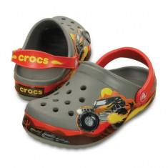 Saboti pentru copii Crocs Crocband Monster Truck Clog Kids Smoke (Crc202663-019) - Papuci copii Crocs, Marime: 23.5, 25.5, 27.5, 29.5, 32.5, 33.5, Culoare: Gri