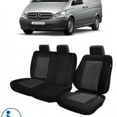 Huse Scaun Mercedes-Vito 2003-2014 3 locuri Confort Line - Husa scaun auto