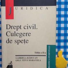Drept civil Culegere de spete Gabriela Raducan Gelu Titus Maravela Ed II 2002 - Carte Drept civil