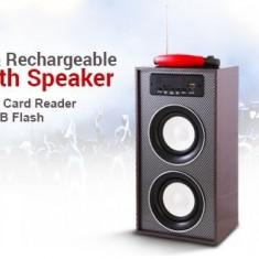 BOXA ACTIVA CU BLUETOOTH, MP3 PLAYER, RADIO FM, INTRARE AUX, ACUMULATOR, AFISAJ.NOU! - Echipament karaoke