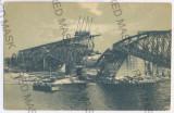 3584 - Bucovina, CERNAUTI, bombed bridge - old postcard - unused, Necirculata, Printata