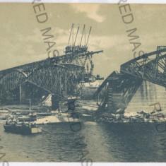 3584 - Bucovina, CERNAUTI, bombed bridge - old postcard - unused - Carte Postala Bucovina 1904-1918, Necirculata, Printata