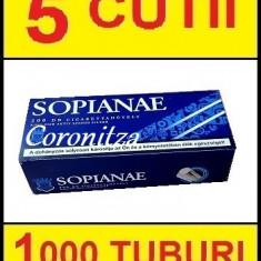 Tuburi tigari SOPIANAE carbon - 1000 tuburi tigari / filtre tigari - Foite tigari