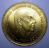 7.374 SPANIA FRANCO UNA 1 PESETA 1971 XF/AUNC, Europa, Bronz-Aluminiu