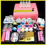 KIT UNGHII FALSE SET MANICHIURA  12 GELURI COLOR LAMPA UV, Sina