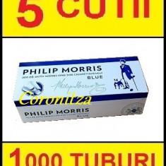 Tuburi tigari PHILIP MORRIS cu carbon activ - 1000 tuburi tigari / filtre tigari - Foite tigari