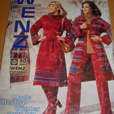 CATALOG MODA VINTAGE ANUL 1976 -77 WENZ PFORZHEIM - IN LIMBA GERMANA - Revista moda