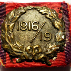 5.228 INSIGNA MILITARA A RANITILOR DIN PRIMUL RAZBOI MONDIAL 1916/19 HUGUENIN - Medalii Romania