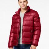 Geaca iarna GUESS Basic Puffer masura M L si XL - Geaca barbati, Culoare: Rosu