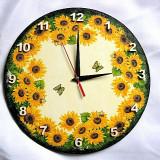 Ceas de perete cu floarea soarelui 27620